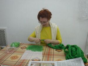 И зелененький жакет... Отчет с мк Оли Филатовой | Ярмарка Мастеров - ручная работа, handmade