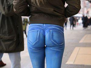 Нарисованные джинсы: не верь глазам своим. Ярмарка Мастеров - ручная работа, handmade.