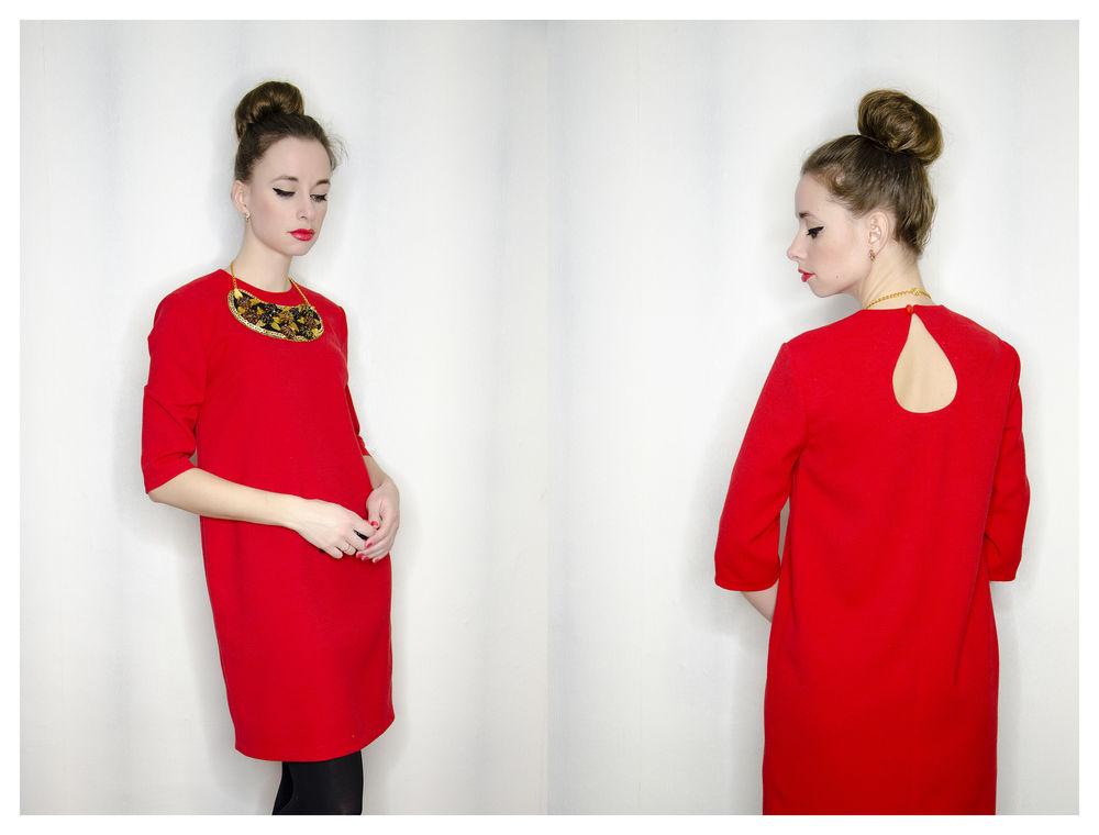 платье, красное платье