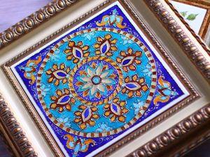 Восточный ветер. Роспись на керамической плитке. | Ярмарка Мастеров - ручная работа, handmade