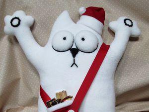 Шьем новогоднего кота Саймона. Ярмарка Мастеров - ручная работа, handmade.