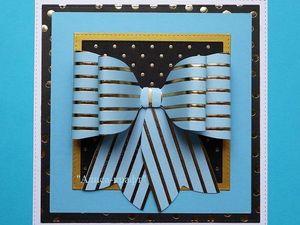 """Голубая бумага """"Золотые полоски"""". Ярмарка Мастеров - ручная работа, handmade."""
