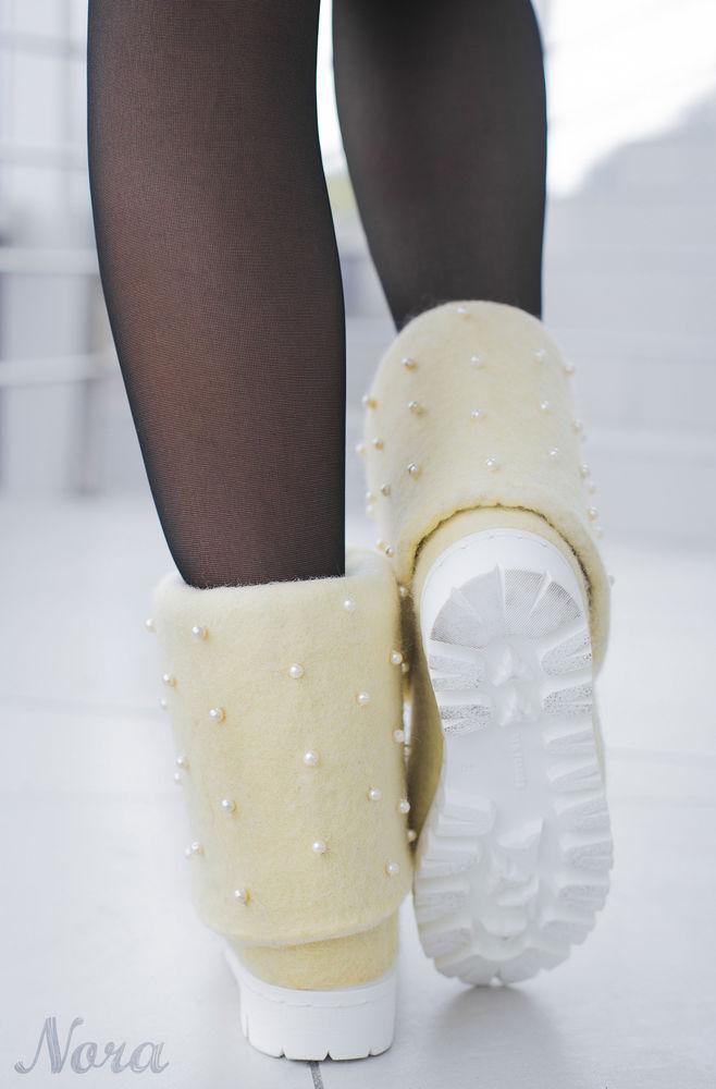 валяние, домашняя обувь