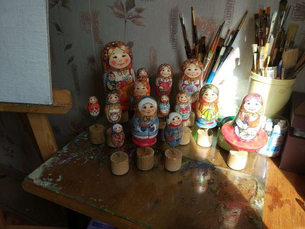 Традиционные матрешки. | Ярмарка Мастеров - ручная работа, handmade