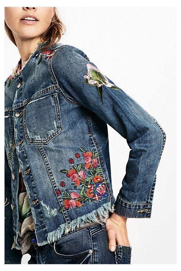 Многообразный декор джинсовых курток: 50 интересных вариантов, фото № 14
