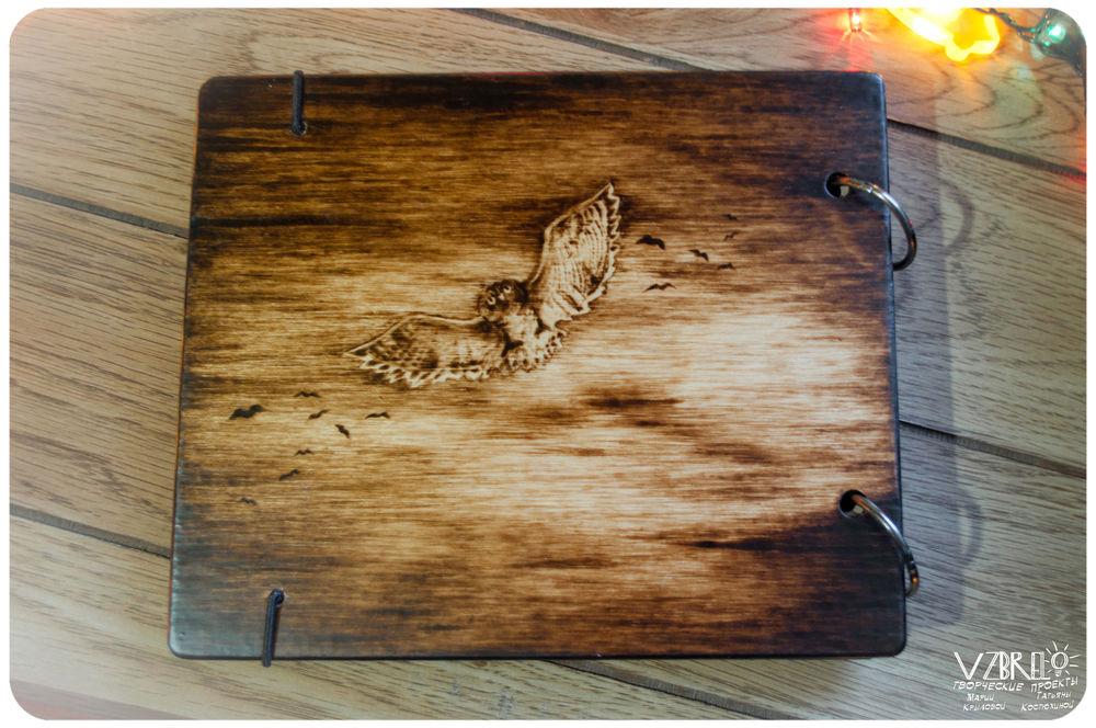 блокнот, скетчбук из дерева, пирография