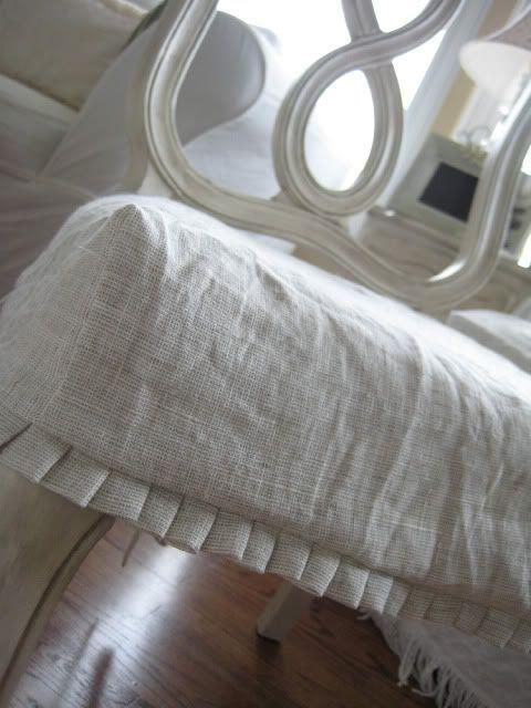 Box pleat slipcover