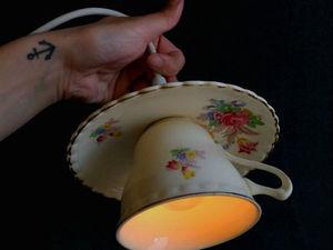 Как сделать необычный светильник из чайной пары. Ярмарка Мастеров - ручная работа, handmade.