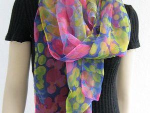 Наличие шелковых шифоновых шарфов 170 х50 см. Ярмарка Мастеров - ручная работа, handmade.