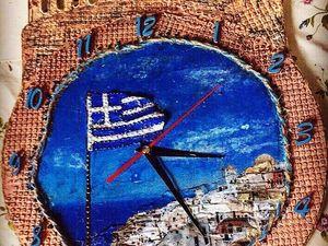 """Часы """"Греция"""". Ярмарка Мастеров - ручная работа, handmade."""