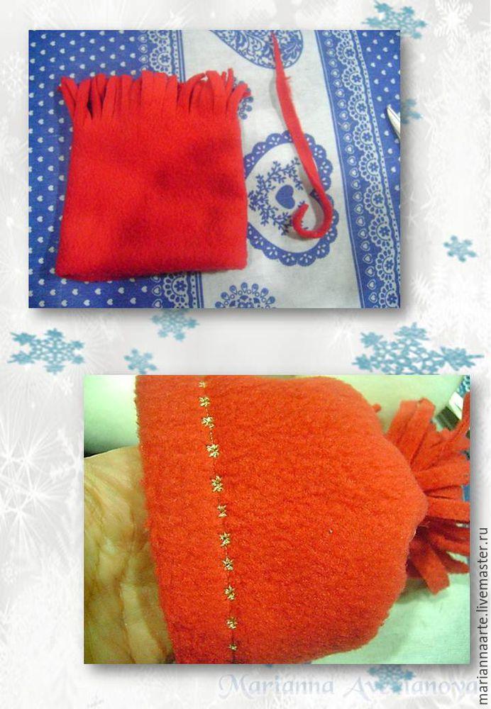 Мастер-класс по созданию забавной новогодней игрушки «Снеговичок-тюфячок», фото № 29