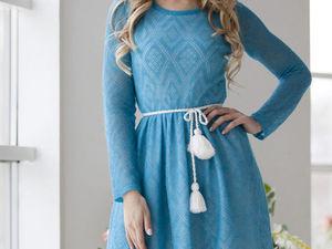 Аукцион на вязаное платьице из кид-мохера!!!Старт 2500 р.!!!. Ярмарка Мастеров - ручная работа, handmade.