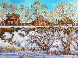 15% скидка на авторскую картину маслом «Мартовский снег» Только два дня!. Ярмарка Мастеров - ручная работа, handmade.