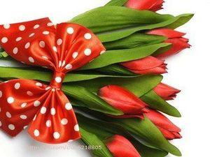 Поздравляю всех милых дам с Праздником 8 Марта!!!. Ярмарка Мастеров - ручная работа, handmade.