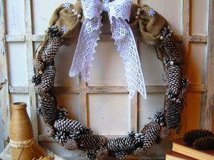 Полет фантазии при создании новогоднего венка. Ярмарка Мастеров - ручная работа, handmade.