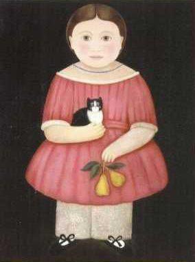 кошка на картине
