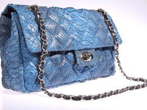 В наличии появились небольшие и удобные стеганные сумочки из кожи питона.   Ярмарка Мастеров - ручная работа, handmade