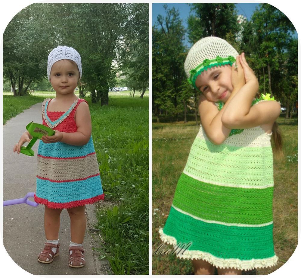 вязаное платье, учу вязать
