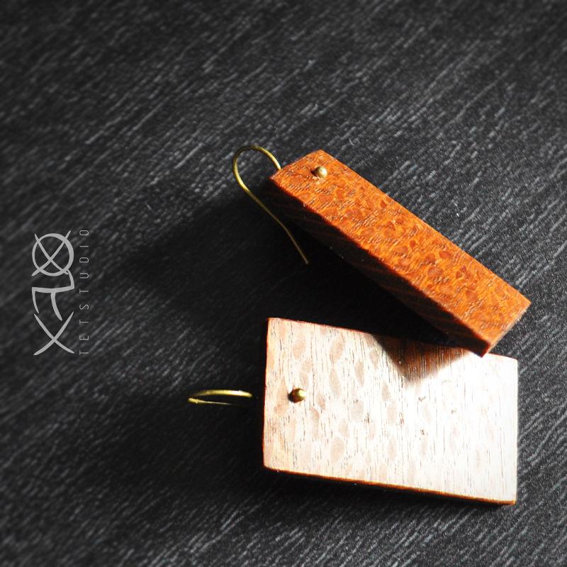 деревянные серьги