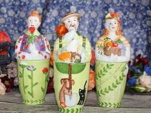Villeroy&Boch: фигурки садовониц и садовника (больше фото). Ярмарка Мастеров - ручная работа, handmade.