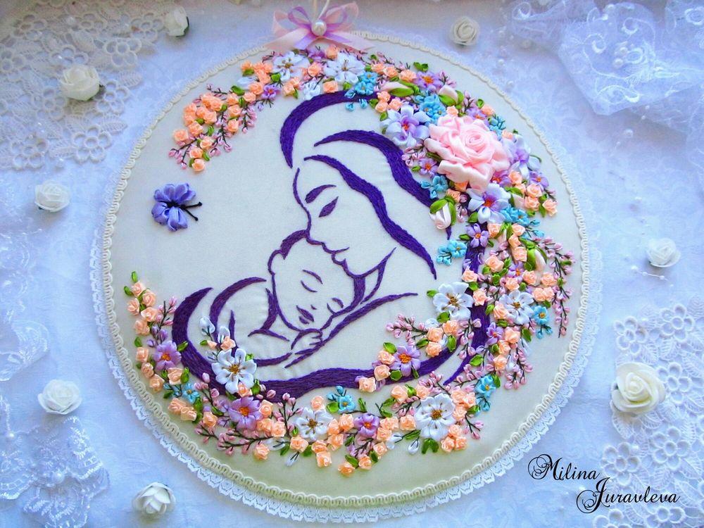 подарок на рождение ребенка, мама и ребенок, процесс работы