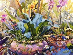 Яркая цветочная акварель в картинах Кристофера Райланда. Ярмарка Мастеров - ручная работа, handmade.