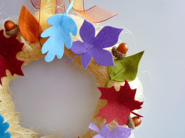 «Раскрашиваем осень»: создаем интерьерный веночек | Ярмарка Мастеров - ручная работа, handmade