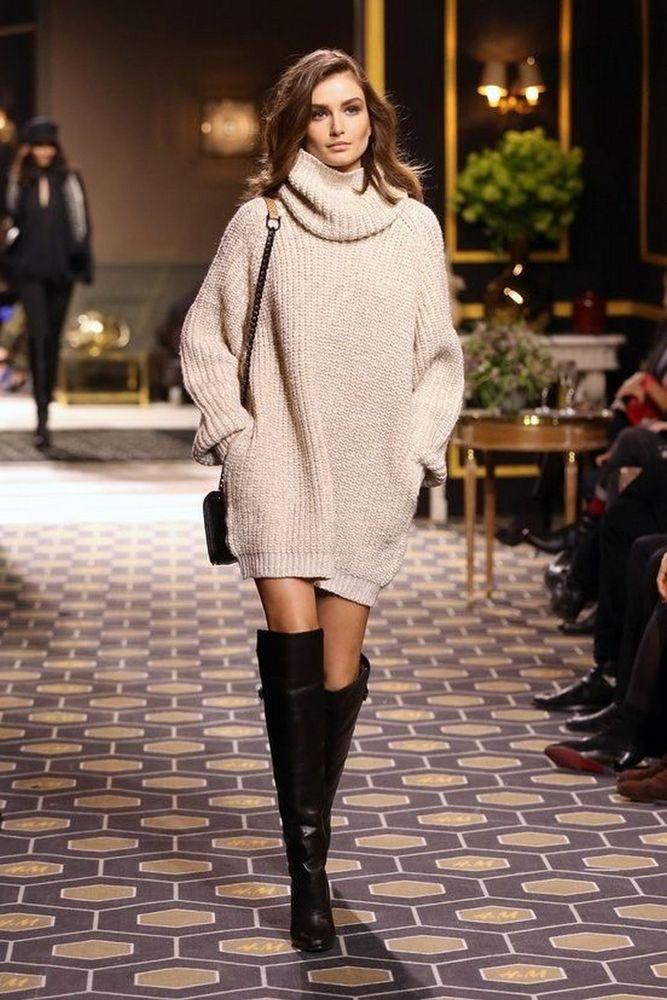 Вязаное платье свитер фото