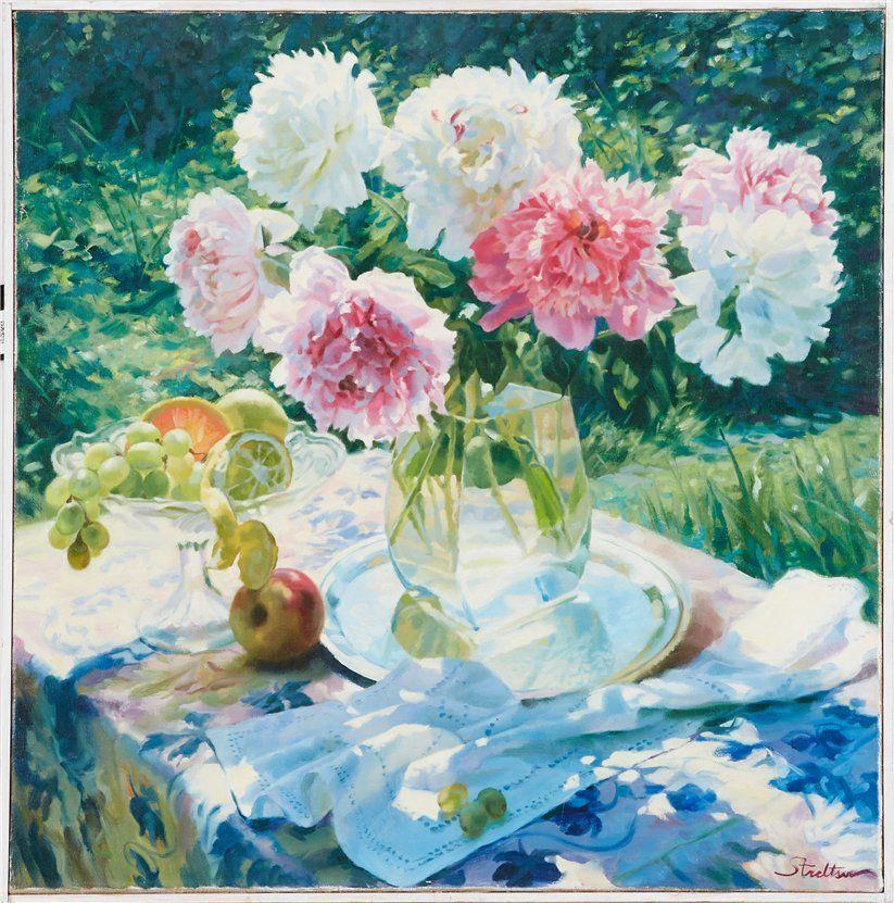 картины с пионами, пионы, современная живопись, рекомендую, пионы в живописи