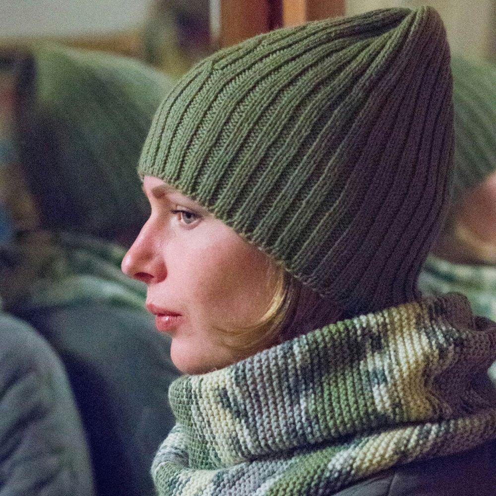 вязаная шапка, мериносовая шерсть