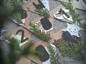 Создаем оригинальную гирлянду  в эко-стиле на Новый год. Ярмарка Мастеров - ручная работа, handmade.