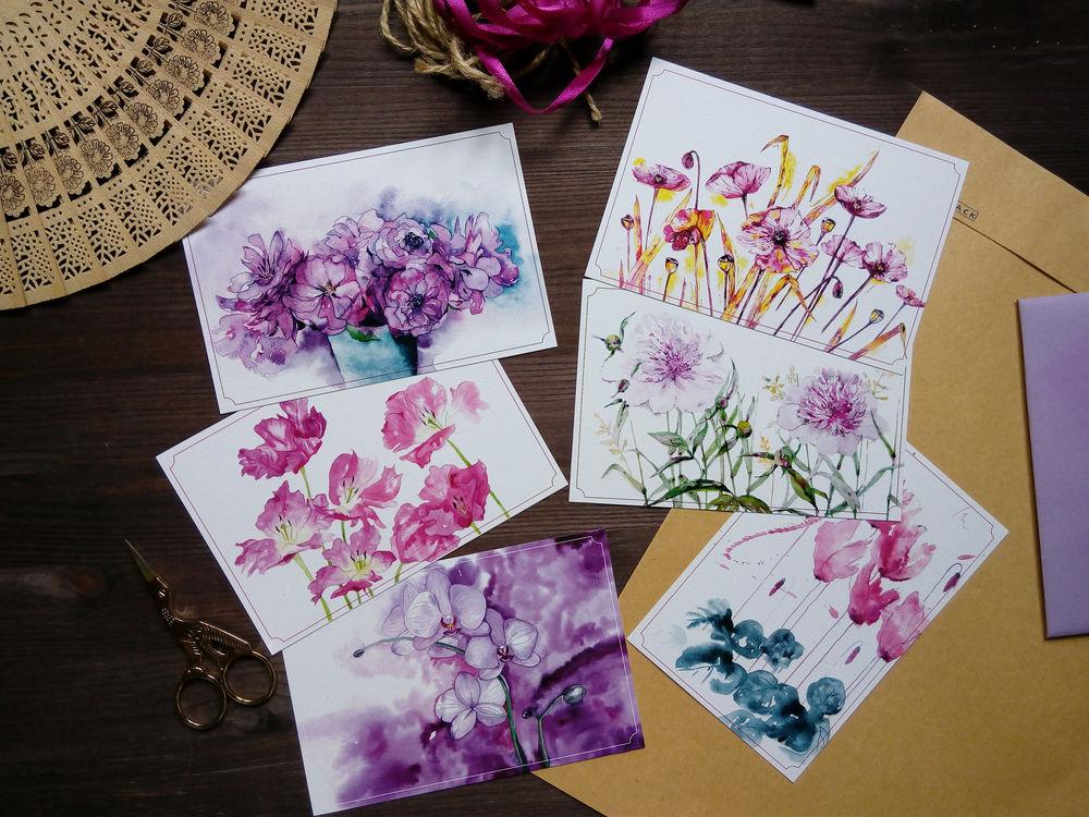 посткроссинг, цветы, розы, для женщин, акварельная живопись, весна, пионы
