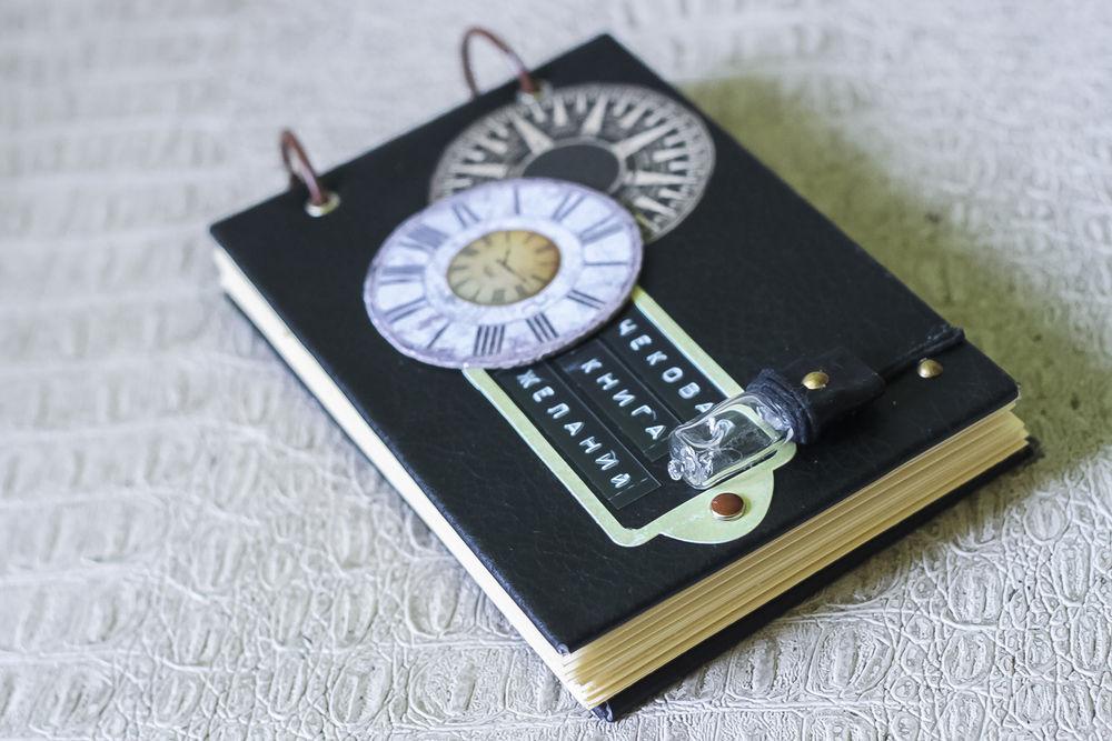 Чековая книжка желаний в чёрной кожаной обложке, фото № 6