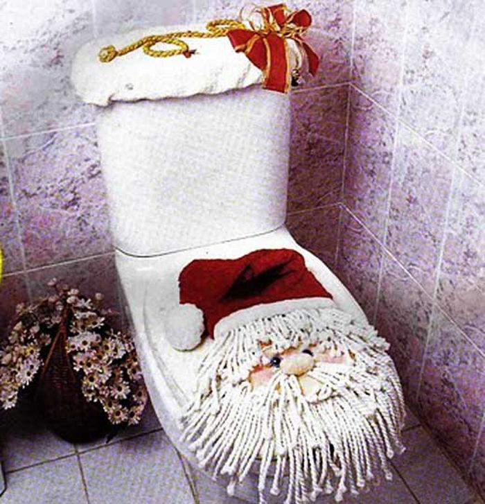 новогодний туалет