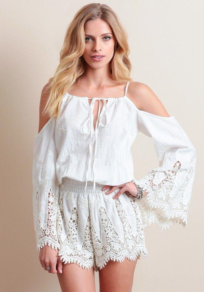 Белое бохо, или Шикарная одежда для королевы летнего пляжа, фото № 112