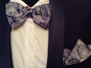 Новинка в коллекции галстуков бабочек. Ярмарка Мастеров - ручная работа, handmade.
