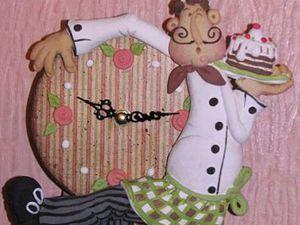 Мастер-класс по лепке из соленого теста. Часы с маятником «Веселый повар». Ярмарка Мастеров - ручная работа, handmade.