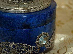 Шкатулка для украшений Лазурит. Повтор для Татьяны. | Ярмарка Мастеров - ручная работа, handmade