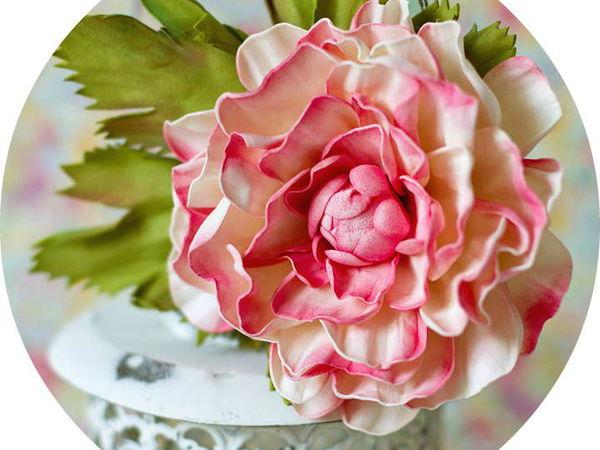 Мастер-класс - Брошь из фоамирана. Реалистичный цветок | Ярмарка Мастеров - ручная работа, handmade