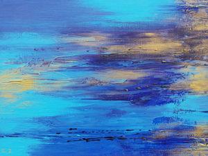 Аукцион!!! — картина акрилом   «Лазурные иллюзии». Ярмарка Мастеров - ручная работа, handmade.