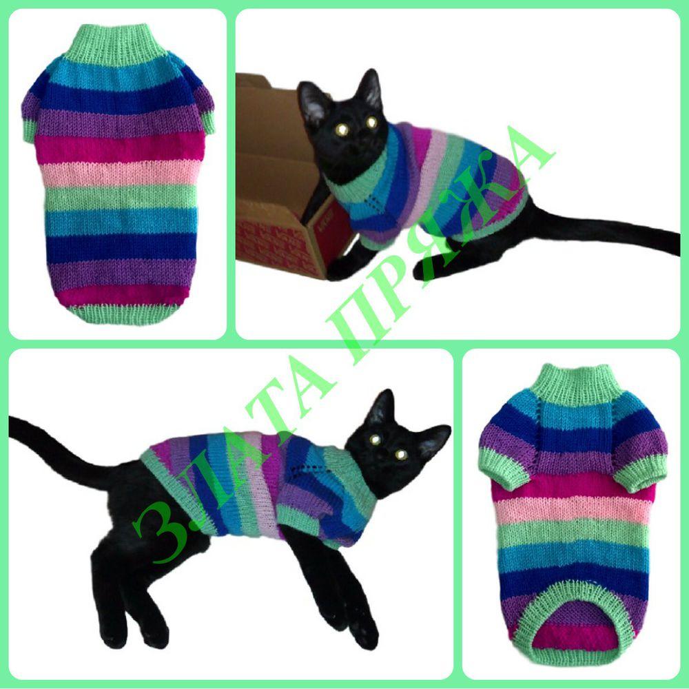 свитер коту, свитера для котов, одежда для кошек, одежда для котов, одежда для животных, злата пряжа
