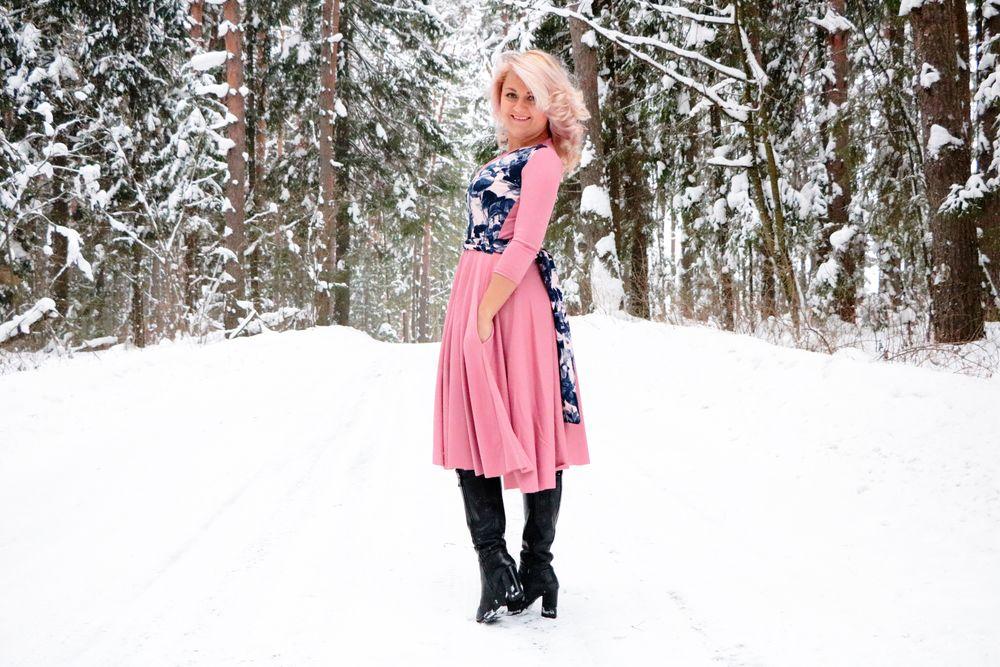 новое платье, цветы
