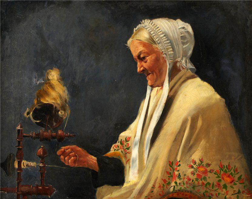 Когда есть чем заняться — стареть некогда: душевные картины о бабушках-рукодельницах, фото № 7