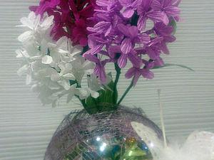 Делаем цветы сирени, или Как избавиться от плохо тянущейся креповой гофробумаги. Ярмарка Мастеров - ручная работа, handmade.