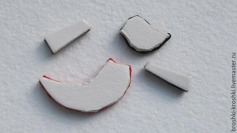 Делаем синичку в витражной технике из кожи, фото № 14