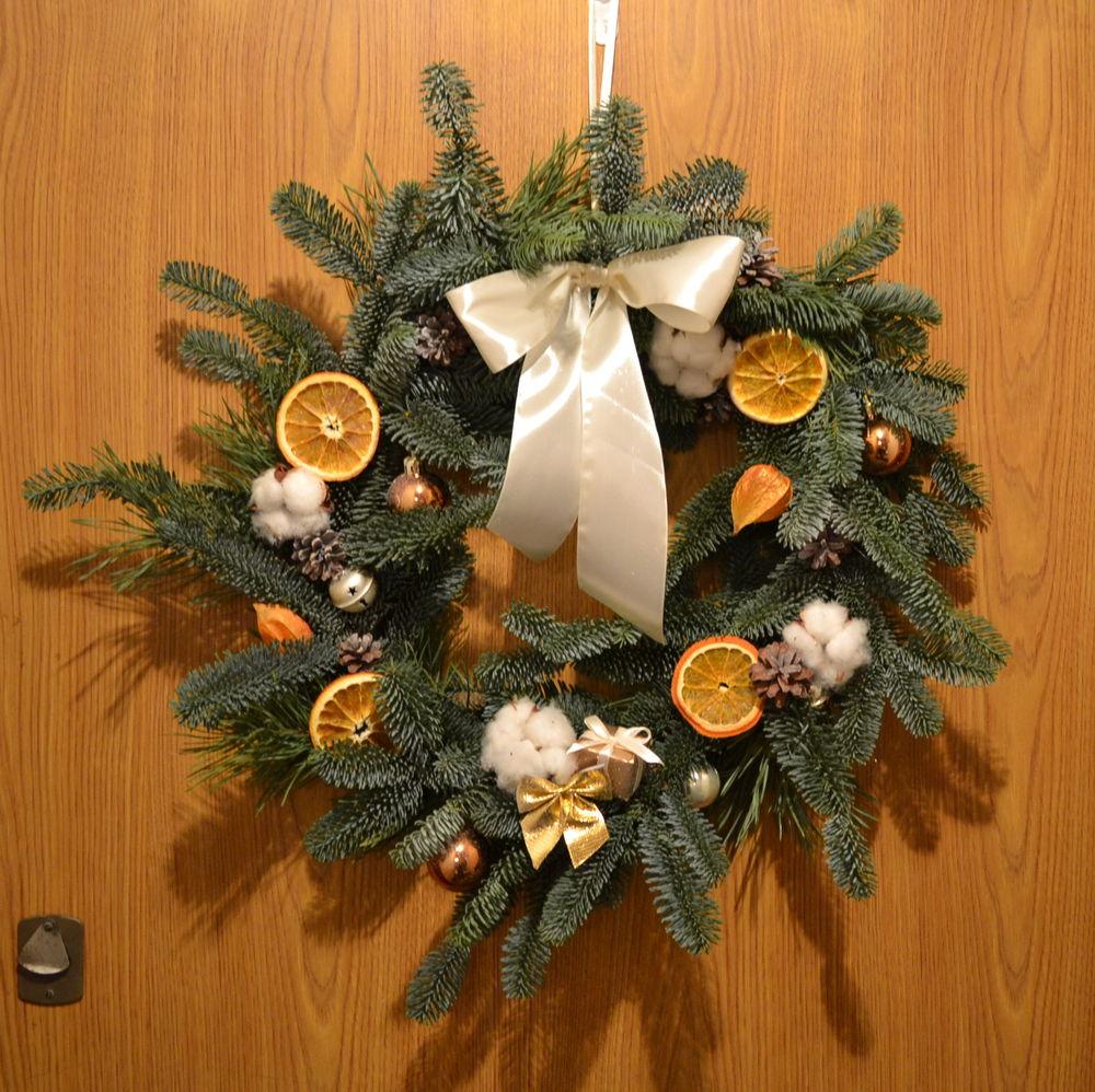 праздник, новый год, новогодний венок, венок на дверь, украшение дома, декор интерьера, декор дома
