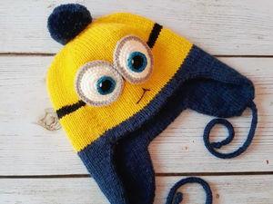 Вяжем двойную шапочку «Миньон». Ярмарка Мастеров - ручная работа, handmade.