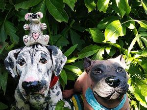 Две новых работы. Две новых собаки. Ярмарка Мастеров - ручная работа, handmade.
