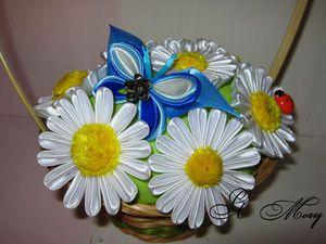 Делаем подарок на 8 марта — букет ромашек в технике канзаши. Ярмарка Мастеров - ручная работа, handmade.
