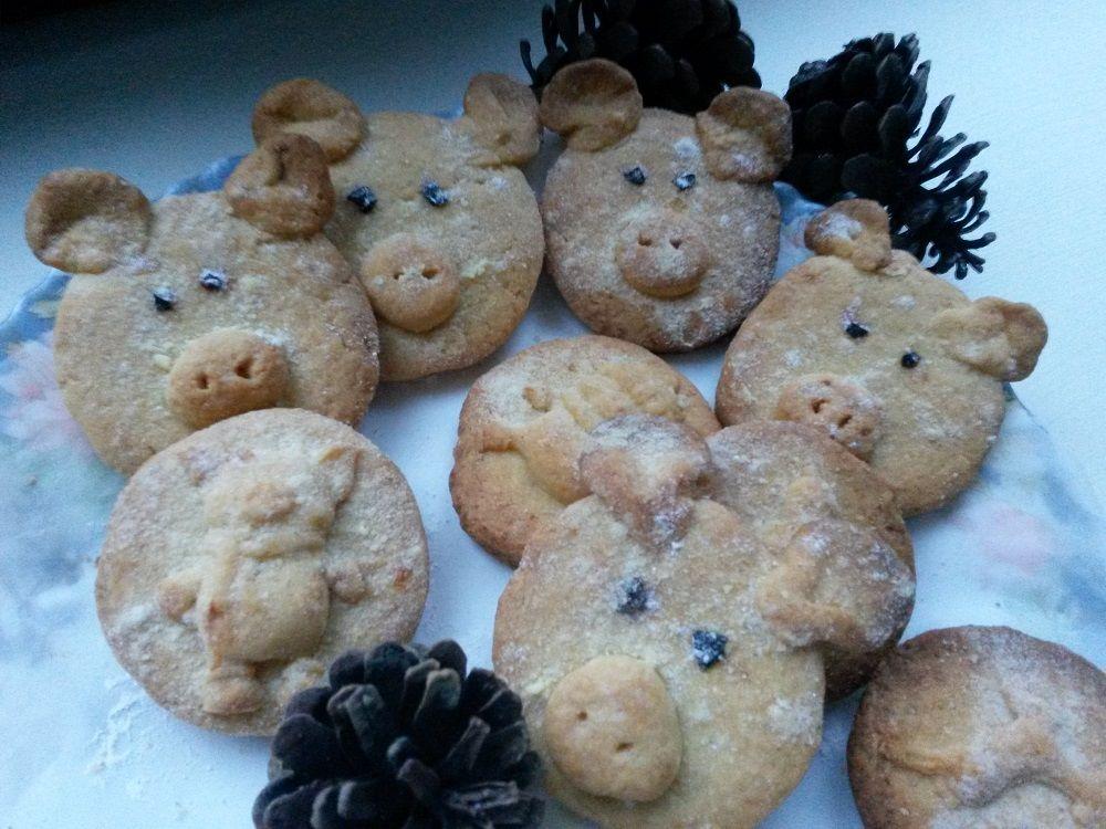 печенье, хрюшки, рецепт, новогодний стол